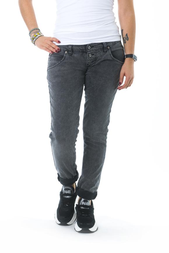 Picture of Please - Jeans P83 IV0 - Nero Denim