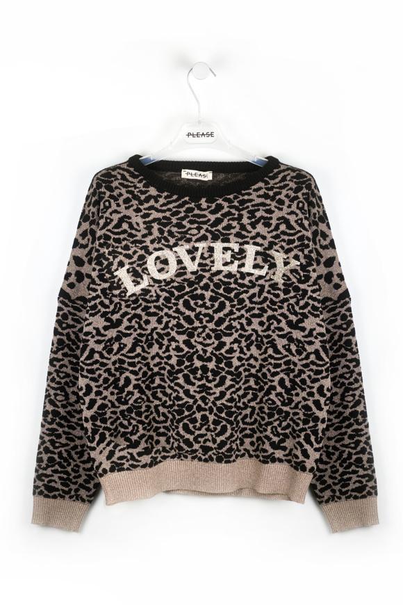 Picture of Please - Sweater- Beige/Nero