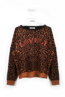 Picture of Please - Sweater- Tabacco/Nero