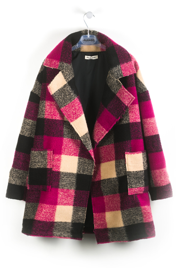 Immagine di Please - Cappotto Oversized - Fuxia/Cammello