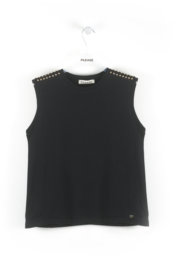Picture of Please - Round neck tank top - Nero